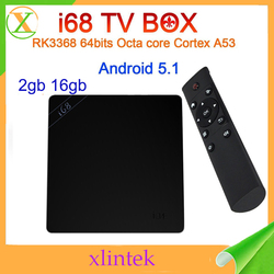 best selling tv box i68 RK3368 octa core real 4k free full hd 1080p porn video android tv box wireless keyboard