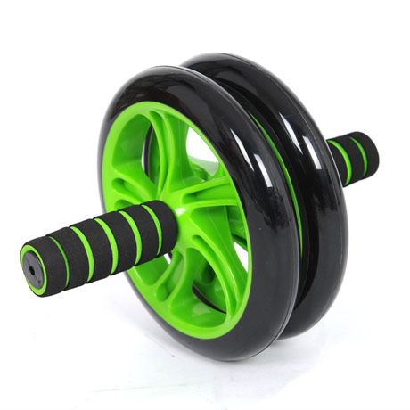 Brand New No Noise Green Abdominal Wheel Ab Roller With Mat For Exercise Fitness Equipment