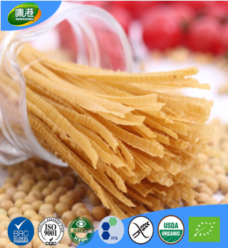 China factory wholesale EC USDA/NOP JAS certificate high quality soybean instant noodles macaroni fettuccine