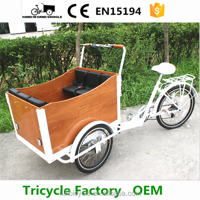 green ride bicycle 3 wheel cargo trike for carry