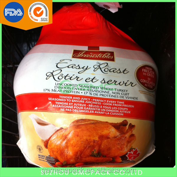 Custom printed Poultry chicken shrink bag