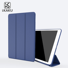 KAKU 9.7-inch reasonable shockproof tablet case full cover 3 folding leather case for new ipad 9.7' 2017