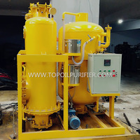 Color improved dirty hydraulic oil recovery system