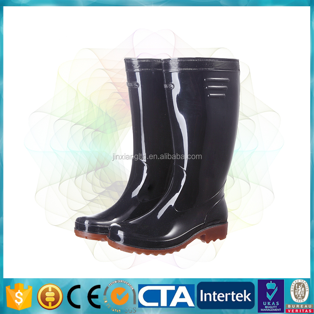 JX-950 latex thigh high boots for men