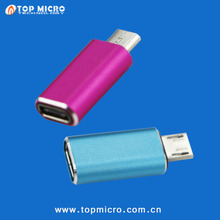 Fast Charge Aluminum Alloy Plug USB Type C 3.1 A Female To MICRO B Male OTG Adapter