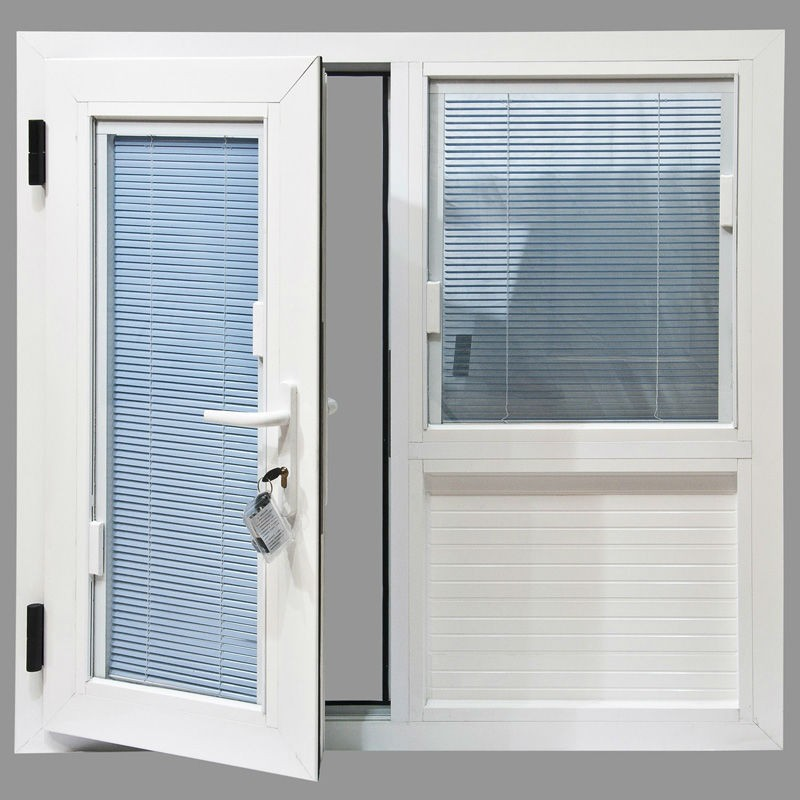 French Style Aluminum Alloy Casement Window With Blinds