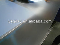 Transparent matt rigid PVC sheets