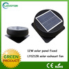 Industrial use solar powered roof fan with adjustable solar panel