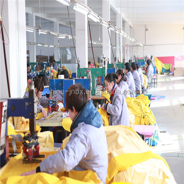 High quality yellow PVC/polyester rainwear