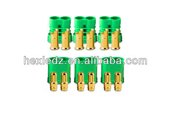 green 6.5mm Gold Polarized Connectors