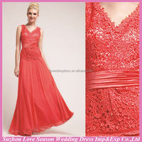 HM0098 Latest New Fashion OEM wholesale cheap handmade garden wedding long sleeveless hot pink young mother of the bride dress