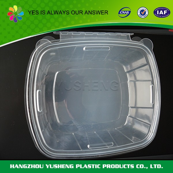 Transparent disposable clear plastic food stocked container,plastic square box