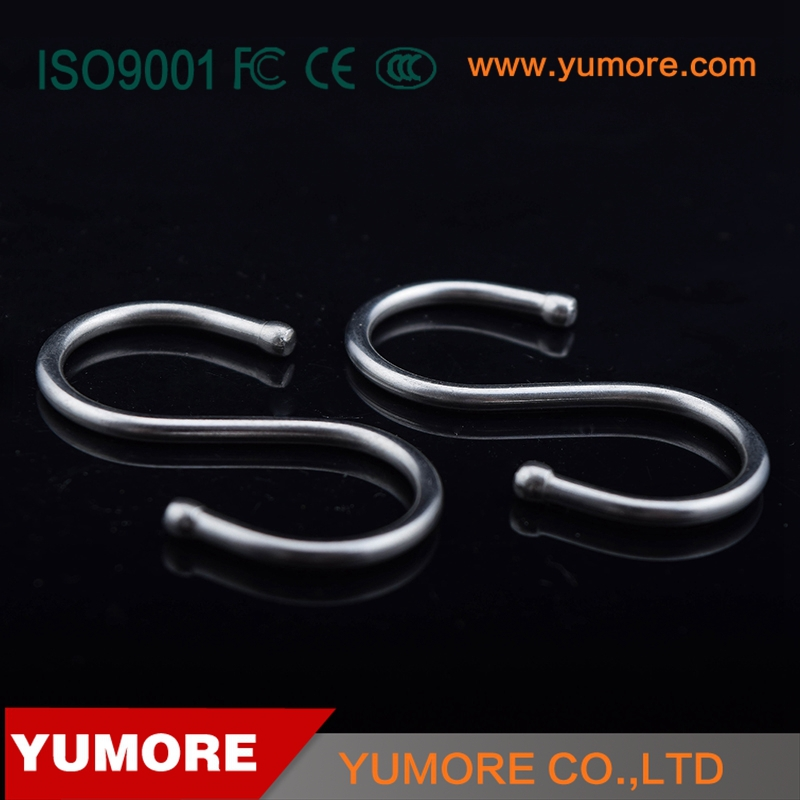 High quality 201 stainless steel meat metal hanging S hooks