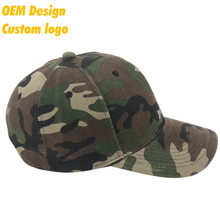 Hot Selling Promotion TC Plastic Buckle Blank five panel custom logo Camo Headwear baseball cap hat for small heads