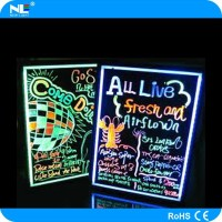 New design popular erasable flash neon sign board /shop sign board /led dispaly board price