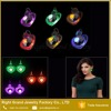 Top Sale LED Accessories Jewelry Lighting Red Blue Heart LED Dangle Earring