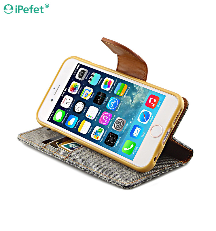 China Suppliers 100% brand cowboy leather materials Mobile Flip Cover For iphone 6/S
