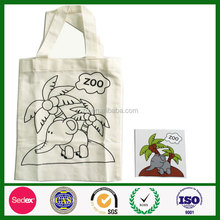 promotional DIY painting drawing canvas cotton bag