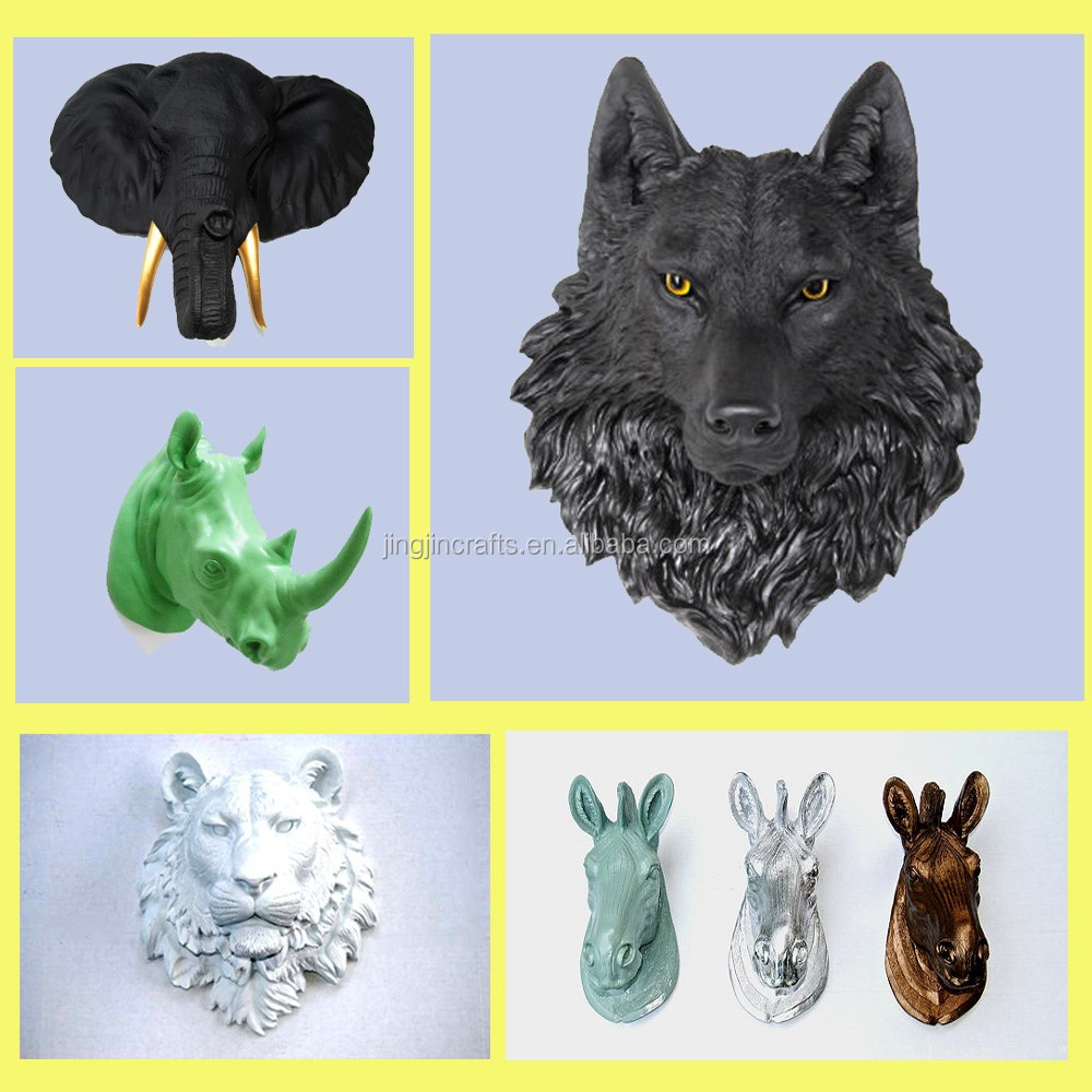 t te d 39 animal de r sine wall mount loup murale en r sine animaux t te sculpture artisanat en. Black Bedroom Furniture Sets. Home Design Ideas