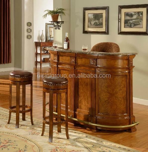 bisini einfache und nat rliche stil aus holz z hler bar zuhause bartheke antike m bel set. Black Bedroom Furniture Sets. Home Design Ideas