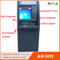 Digital signage kiosk/foreign currency exchange kiosk machine/cash dispenser kiosk machine