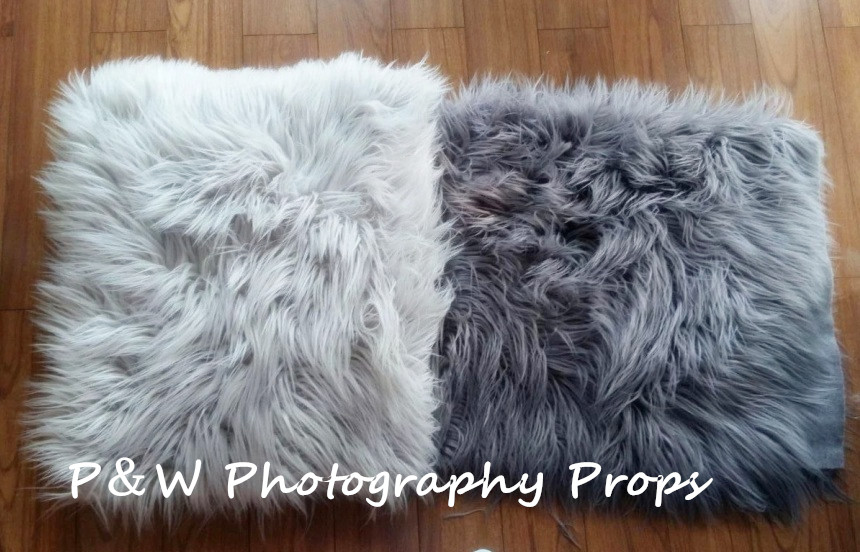 Baby Faux fur Blanket plus Long Pile Newborn Photo Props