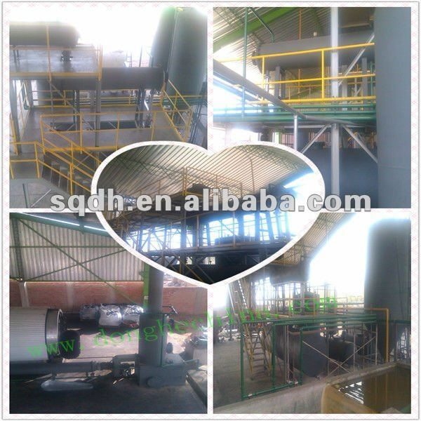 used tyre and rubber recycling machine with high efficiency