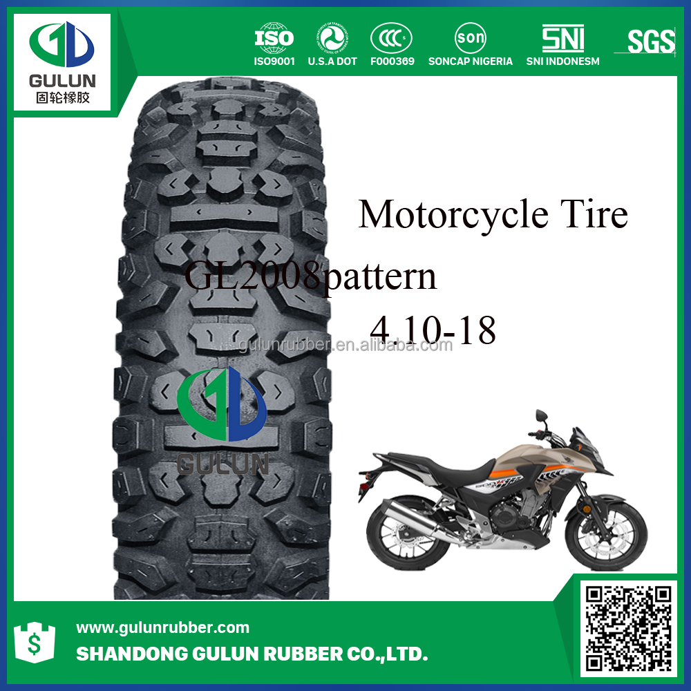 Motorcycle Tyre Off Road Motocross Tire tube 4.10-18 Motorcycle Tubeless Tyres 4.10-18