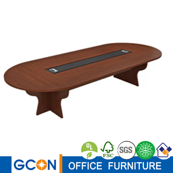 Wood oval large meeting room conference table for 10 for 10 person conference table