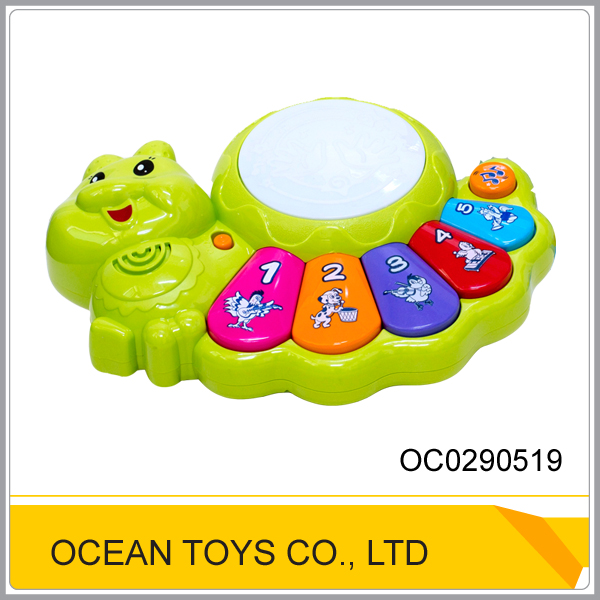 Toy musical electric plastic baby piano with light and music OC0290519