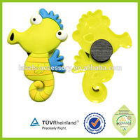 3d soft pvc cartoon shape cheap custom fish shape fridge magnet