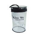 promotional drum shape clear PVC cosmetic bag