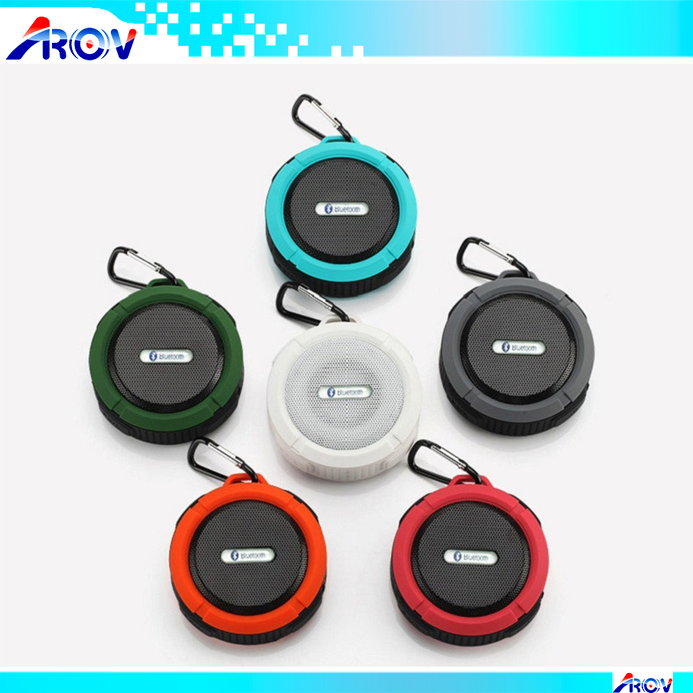 Waterproof Wireless Bluetooth Speaker for Outdoor Indoor Mini Portable Speaker Suction Cup and Hands-Free