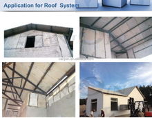 High load bearing lightweight eps foam insulated roofing panels