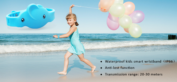 Silicon case waterproof kids bracelet ibeacon,anti-lost function ibeacon wrist band