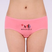 Cheap cotton briefs women stretched cotton underwear women stock young young girl's model in panties hot lingerie