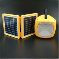 3W double panel multifunction portable solar light for camping with usb phone charger