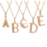Customize Design Wholesale Stainless Steel Art Deco Initial Necklace