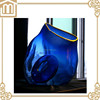 Home decoration Hand brown blue color transparent clear glass vase