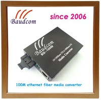 china manufacture direct supply Fast Ethernet single mode fiber optic to rj45 media converter