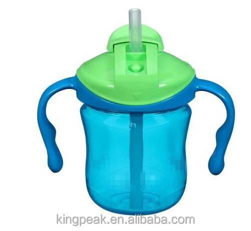 2017 Best Selling BPA free 6OZ Straw Trainer Cup/Baby First Sippy Cup/ OEM Bpa free Baby Kids training sipper