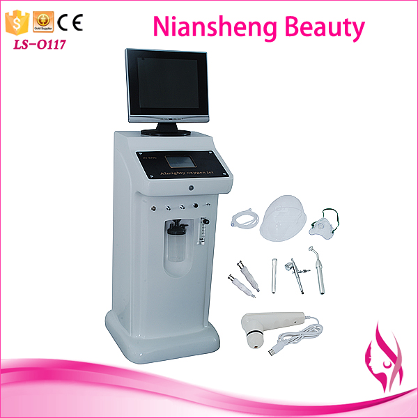 Niansheng LS-O117 hottest and best beauty salon used water oxygen jet peel facial machine