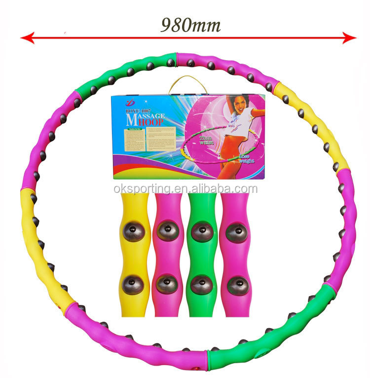Flexible wholesale detachable magnetic massage hula hoop