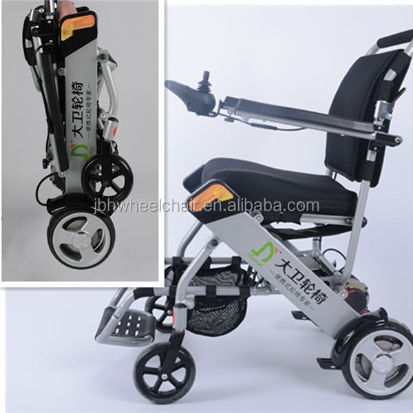 Folding simple battery operated power wheelchair supplier