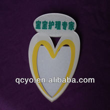 Shenzhen customize handmade heart shaped name tags