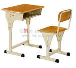 New modern school furniture school single desk and chair for children