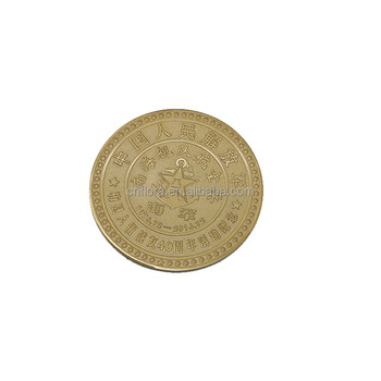 Custom navy commemorative coins gold