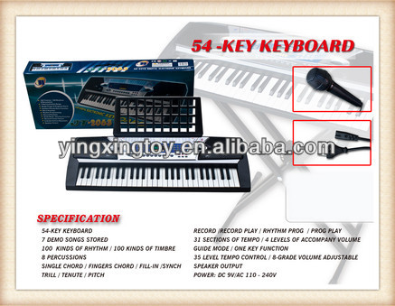 musical instruments 54 keys electronic organ keyboard for kids