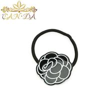 Most popular black rose acetate shape ponytail holder small elastic hair bands