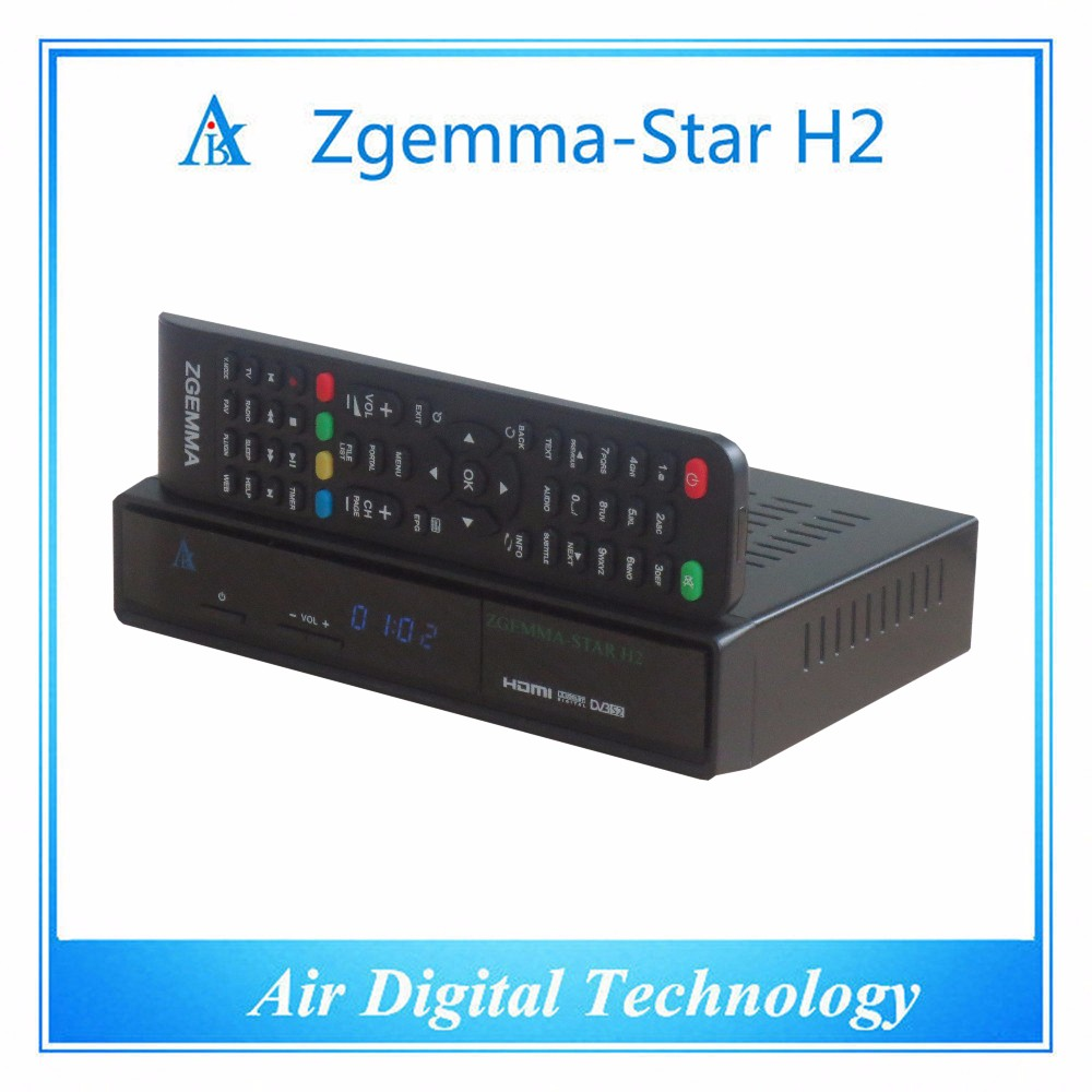 Zgemma-star H2 lnb satellite receiver DVB T2/C hybrid tuner SAMSUNG 109A internet tv box indian channels